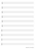 Notenpapier A4 TAB Tabulatur 4 Saiten 10 Zeilen