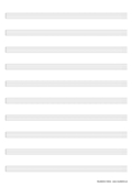 Notenpapier A4 ohne Notenschlüssel  10 Zeilen